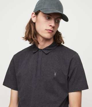Mens Brace Polo Shirt (Charcoal Marl) - product_image_alt_text_2