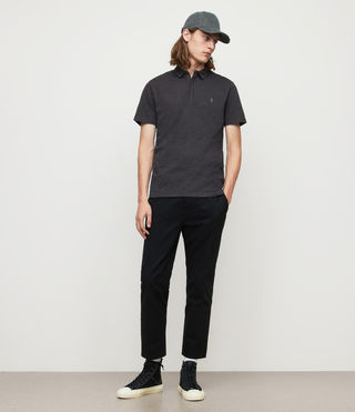Mens Brace Polo Shirt (Charcoal Marl) - Image 3