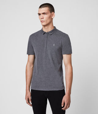 Mens Brace Polo Shirt (Charcoal Marl) - Image 4