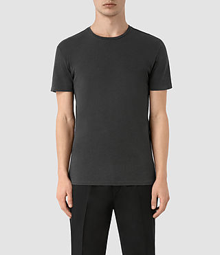 Herren Grinds Crew T-Shirt (Washed Black) -