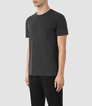 Herren Grinds Crew T-Shirt (Washed Black) - product_image_alt_text_2