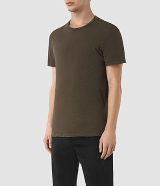 Hombres Grinds Crew T-Shirt (Khaki Brown) - product_image_alt_text_2
