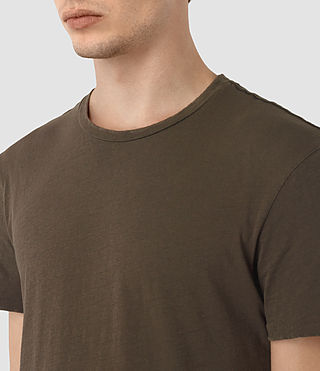 Hombres Grinds Crew T-Shirt (Khaki Brown) - product_image_alt_text_3