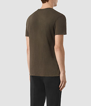 Hombres Grinds Crew T-Shirt (Khaki Brown) - product_image_alt_text_4
