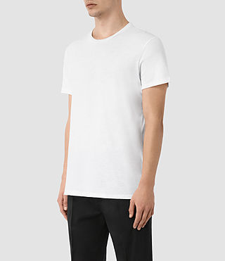Men's Grinds Crew T-Shirt (Optic White) - product_image_alt_text_2