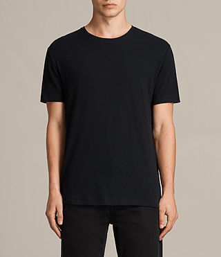 Mens Laxley Crew T-Shirt (Jet Black) - product_image_alt_text_1