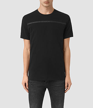 Herren Brook Crew T-Shirt (Black/Black)