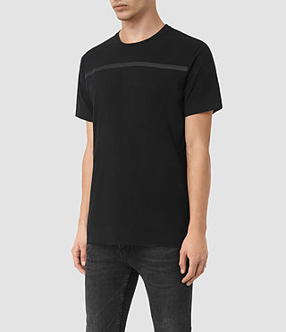 Hommes Brook Ss Crew (Black/Black) - product_image_alt_text_2