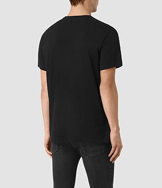 Hommes Brook Ss Crew (Black/Black) - product_image_alt_text_3
