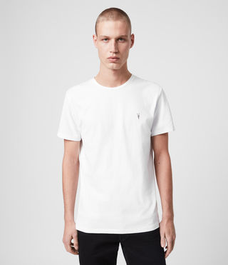 Mens Laiden Tonic Crew T-Shirt (Optic White) - Image 1