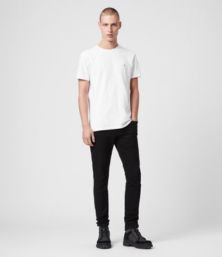 Mens Laiden Tonic Crew T-Shirt (Optic White) - Image 3