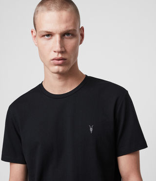 Men's Laiden Tonic Crew T-Shirt (Jet Black) - Image 2