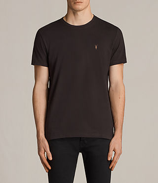 Hombres Laiden Tonic Crew T-Shirt (AUBERGINE RED) - Image 1