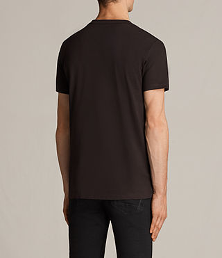 Hombres Laiden Tonic Crew T-Shirt (AUBERGINE RED) - Image 4