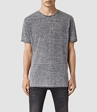 Mens Eligh Crew T-Shirt (Charcoal Marl) - product_image_alt_text_1