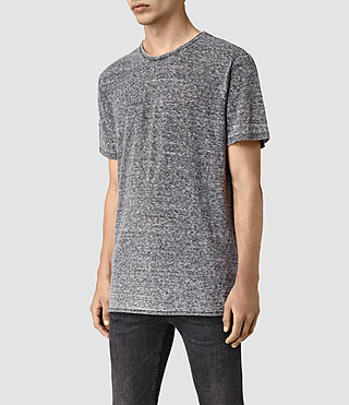 Mens Eligh Crew T-Shirt (Charcoal Marl) - product_image_alt_text_3