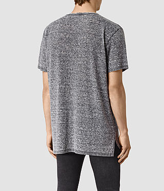 Mens Eligh Crew T-Shirt (Charcoal Marl) - product_image_alt_text_4