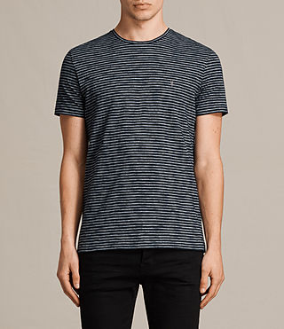 Hombres Tonic Trid Crew T-Shirt (INK NAVY/GREY MARL) -