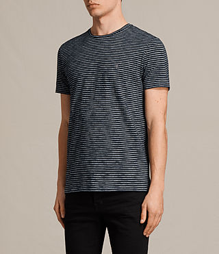 Mens Tonic Trid Crew T-Shirt (INK NAVY/GREY MARL) - product_image_alt_text_3