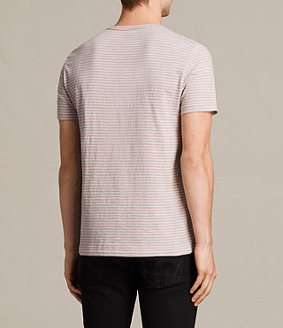 Mens Tonic Trid Crew T-Shirt (DUSK PINK/WHITE) - product_image_alt_text_4