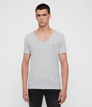 Hommes T-shirt à encolure danseuse Tonic (Grey Marl)