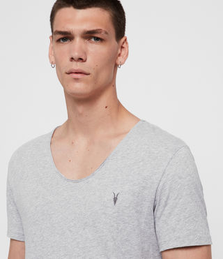 Mens Tonic Scoop T-Shirt (Grey Marl) - Image 3