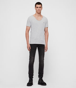 Mens Tonic Scoop T-Shirt (Grey Marl) - Image 4