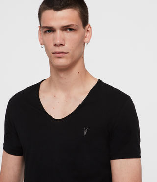 Hombres Tonic Scoop T-Shirt (Jet Black) - product_image_alt_text_2