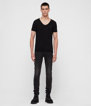 Hombres Tonic Scoop T-Shirt (Jet Black) - product_image_alt_text_3
