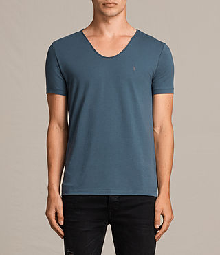 Hommes T-Shirt à Encolure Danseuse Tonic (RIFLE BLUE) - Image 1