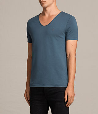 Hommes T-Shirt à Encolure Danseuse Tonic (RIFLE BLUE) - Image 3