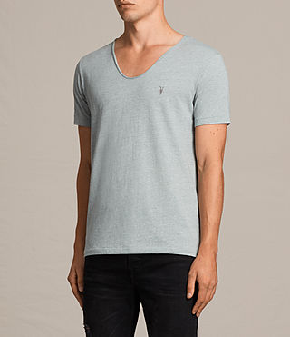 Mens Tonic Scoop T-Shirt (CHROME BLUE MARL) - product_image_alt_text_3