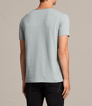 Mens Tonic Scoop T-Shirt (CHROME BLUE MARL) - product_image_alt_text_4