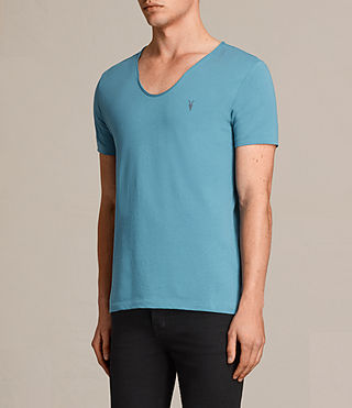 Mens Tonic Scoop T-Shirt (TEAL BLUE) - Image 2