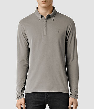 Mens Brace Long Sleeved Polo Shirt (Putty) - product_image_alt_text_1