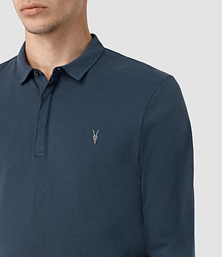 Men's Brace Long Sleeve Polo Shirt (Workers Blue) - product_image_alt_text_2