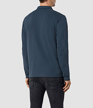 Uomo Brace Long Sleeve Polo Shirt (Workers Blue) - product_image_alt_text_4