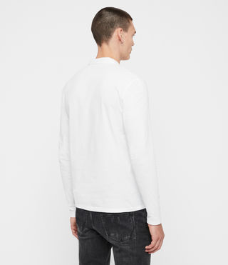 Uomo Brace Long Sleeved Polo Shirt (Optic White) - product_image_alt_text_5