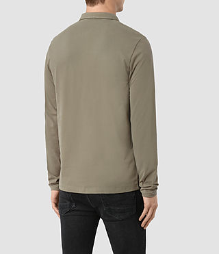 Hombres Brace Long Sleeved Polo Shirt (QUARRY GREY) - product_image_alt_text_3