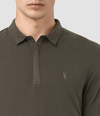 Men's Brace Long Sleeved Polo Shirt (Pewter Brown) - product_image_alt_text_2