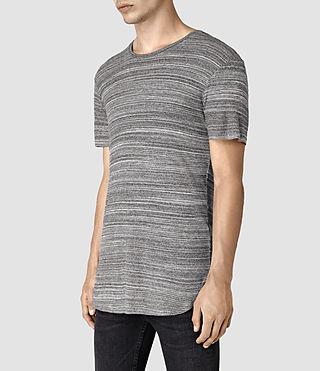 Mens Tobiah Crew T-Shirt (Grey Mouline) - product_image_alt_text_3