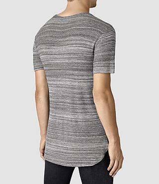 Mens Tobiah Crew T-Shirt (Grey Mouline) - product_image_alt_text_4