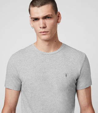 Uomo Tonic Crew T-Shirt (Grey Marl) - product_image_alt_text_2