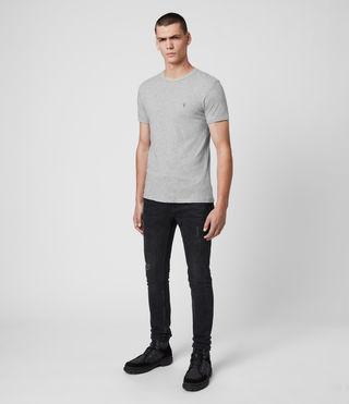 Uomo Tonic Crew T-Shirt (Grey Marl) - product_image_alt_text_3
