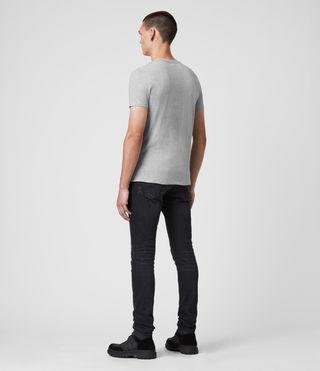 Uomo Tonic Crew T-Shirt (Grey Marl) - product_image_alt_text_4