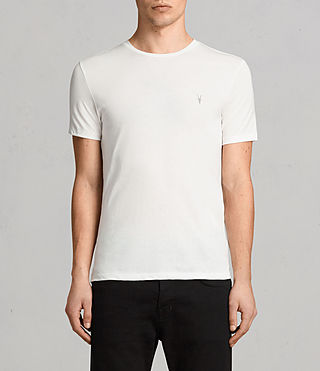 Mens Tonic Crew T-Shirt (Chalk White) - product_image_alt_text_1