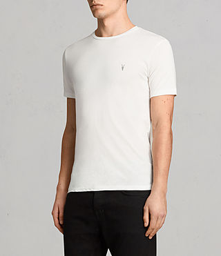 Uomo Tonic Crew T-Shirt (Chalk White) - product_image_alt_text_3