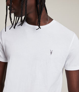 Mens Tonic Crew T-Shirt (Optic White) - product_image_alt_text_2