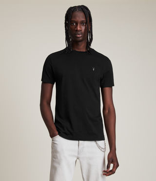 Mens Tonic Crew T-Shirt (Jet Black) - product_image_alt_text_1