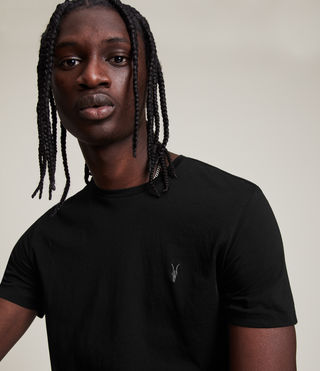 Mens Tonic Crew T-Shirt (Jet Black) - Image 2
